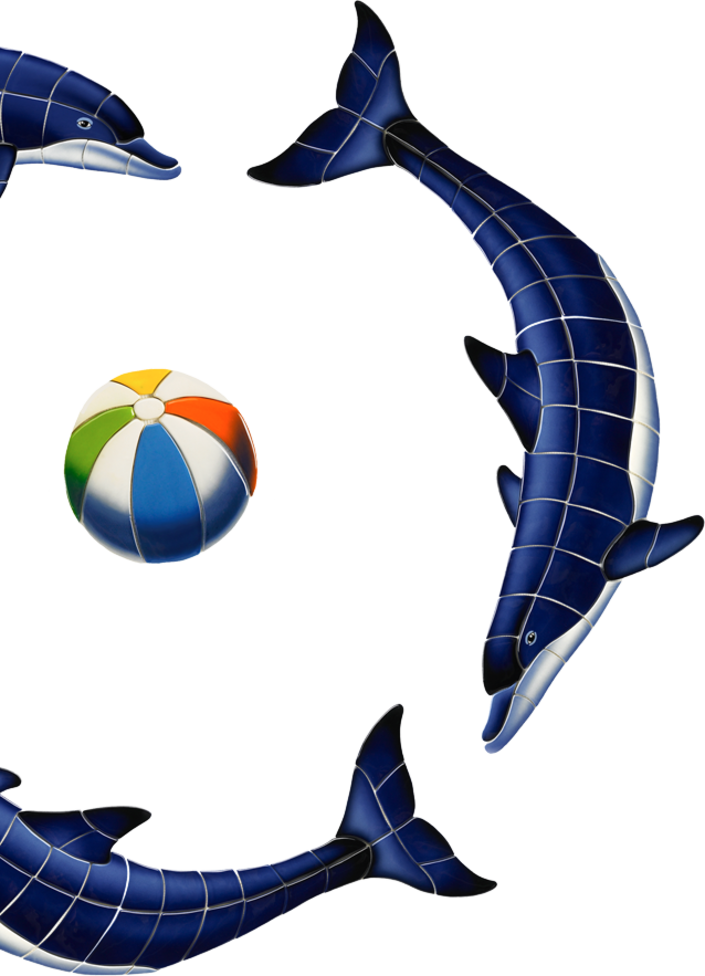 Little tile inc online. Sunset clipart dolphins