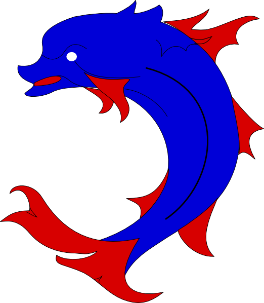 Dolphins clipart side view. Pink dolphin at getdrawings