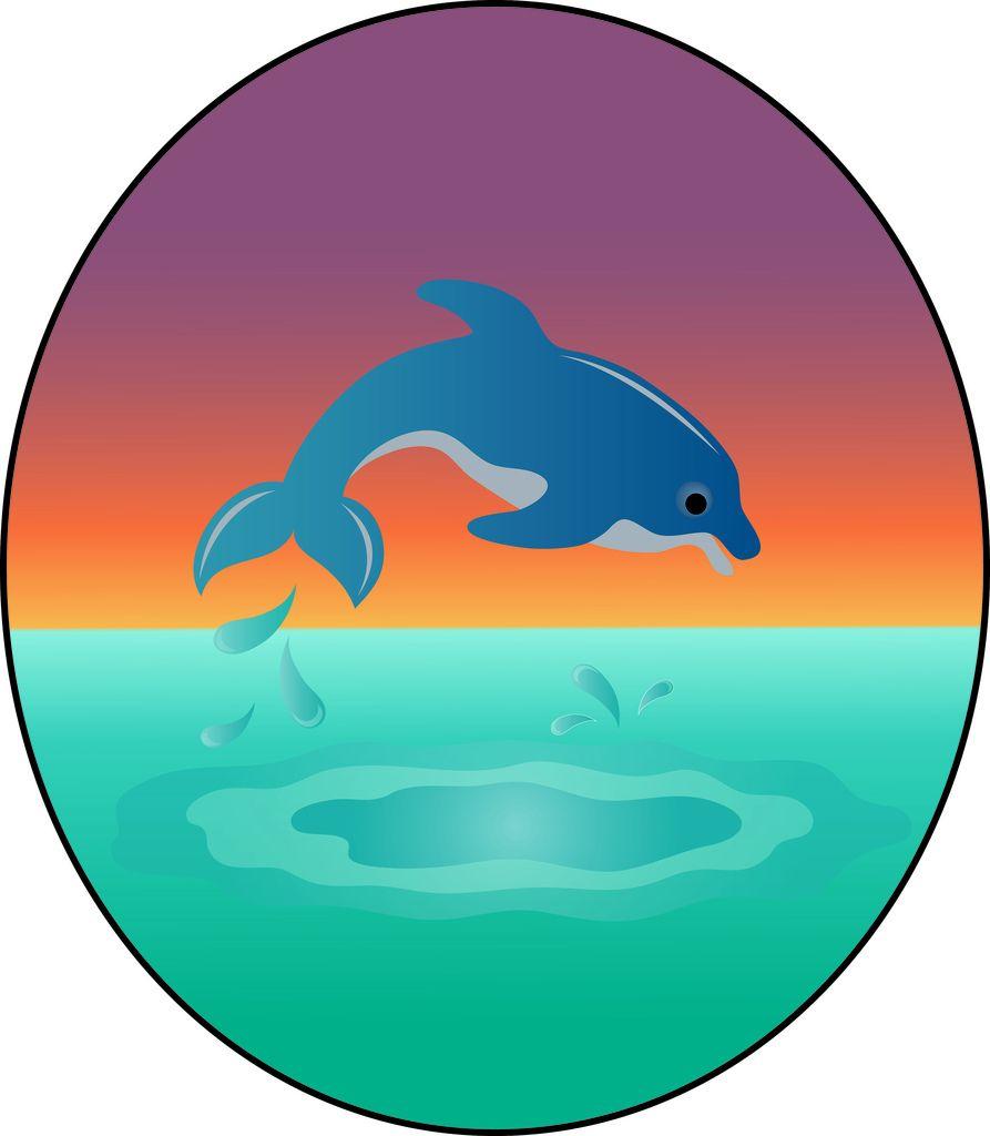Dolphin clipart superhero. Clip art illustration of