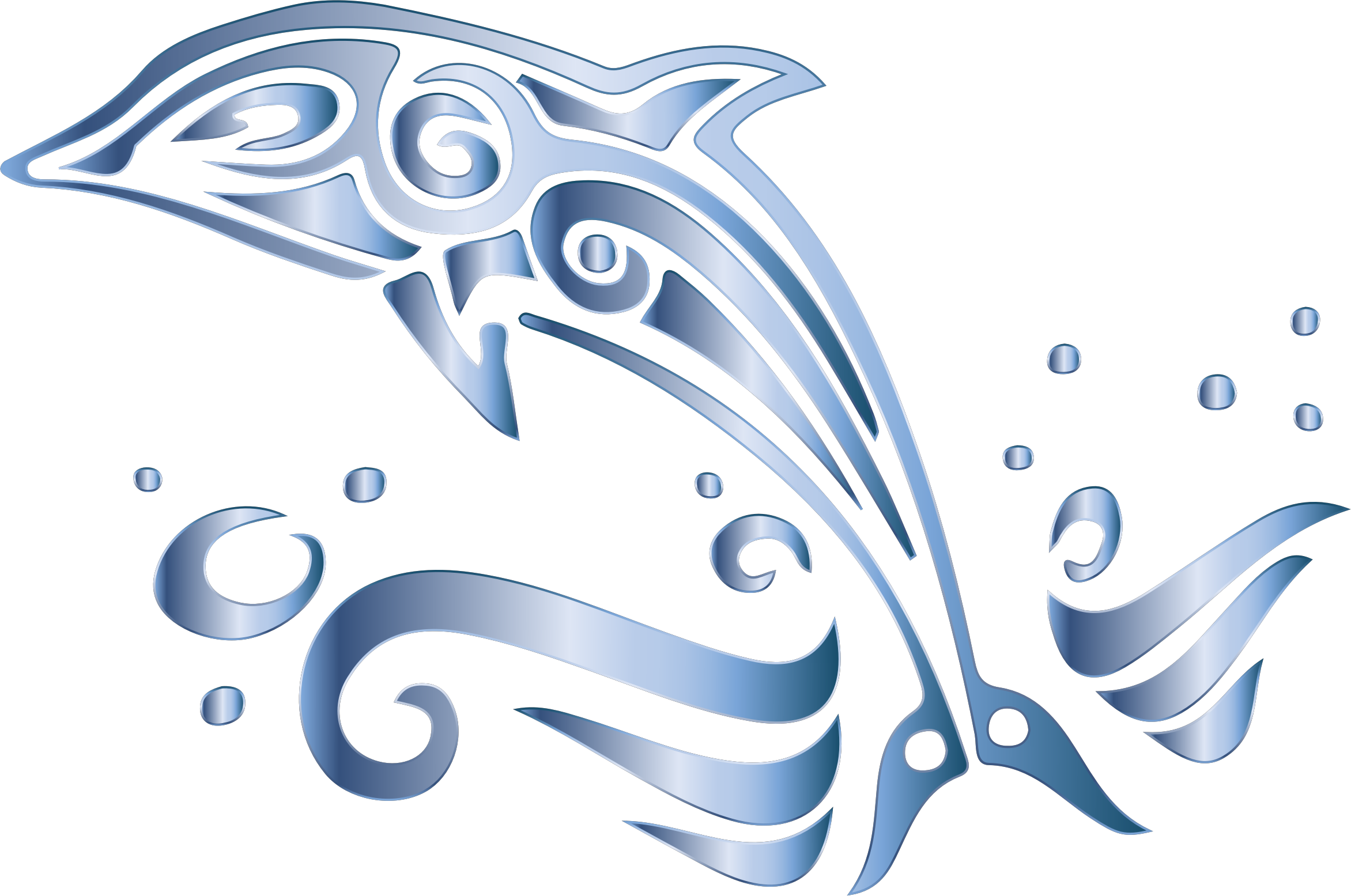 Chromatic tribal no background. Clipart dolphin svg