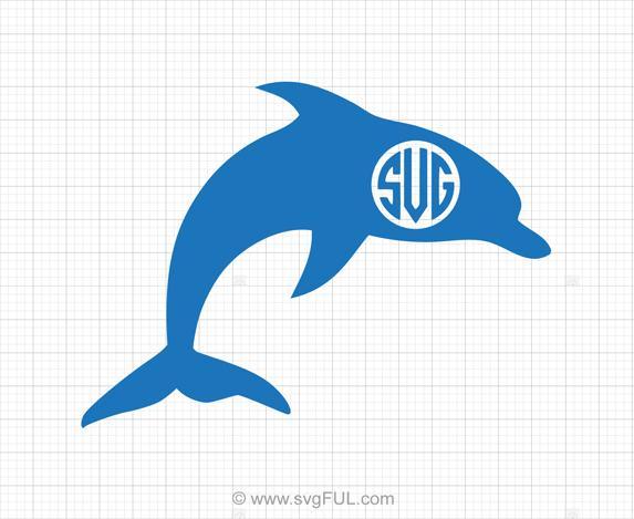 Clipart dolphin svg. Free monogram svgful