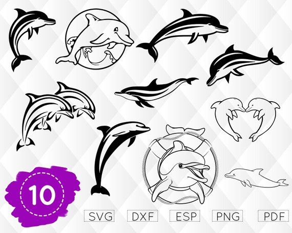 Clipart dolphin svg. Dolphins silhouettes