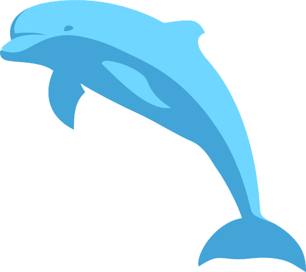 Clip art at clker. Dolphin clipart blue dolphin