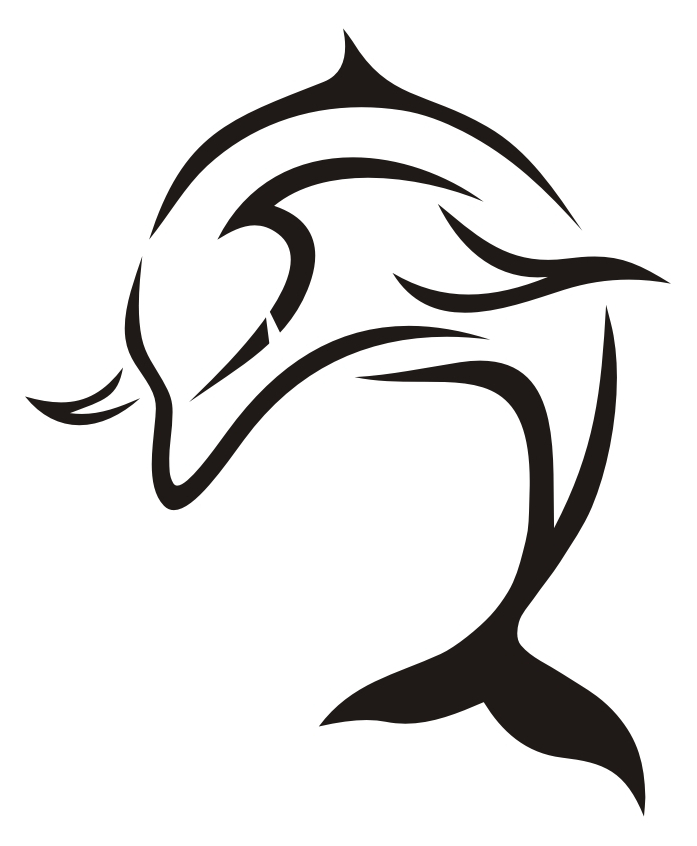 Tribal dolphin designs coolest. Dolphins clipart tattoo