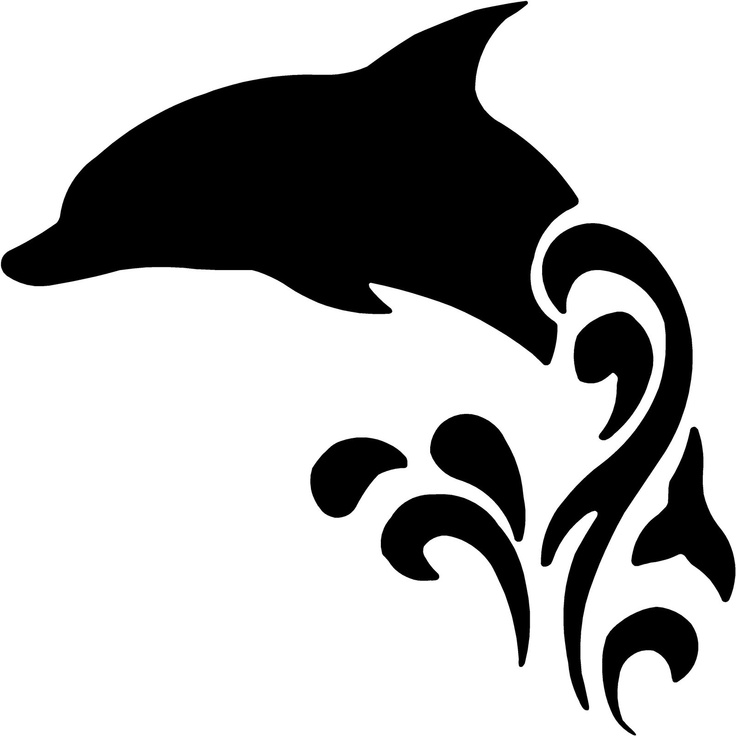 Dolphins clipart tattoo. Tribal dolphin design cricut