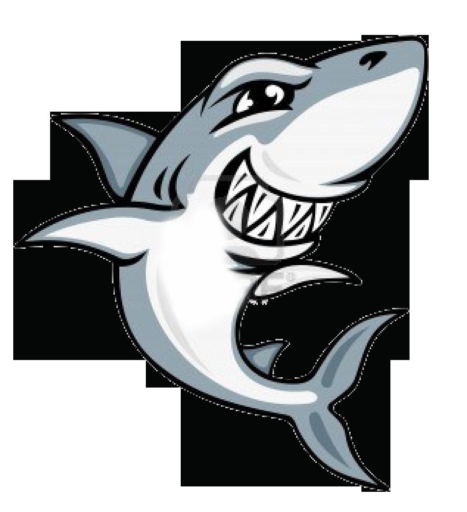 Great mascot. Girl clipart shark
