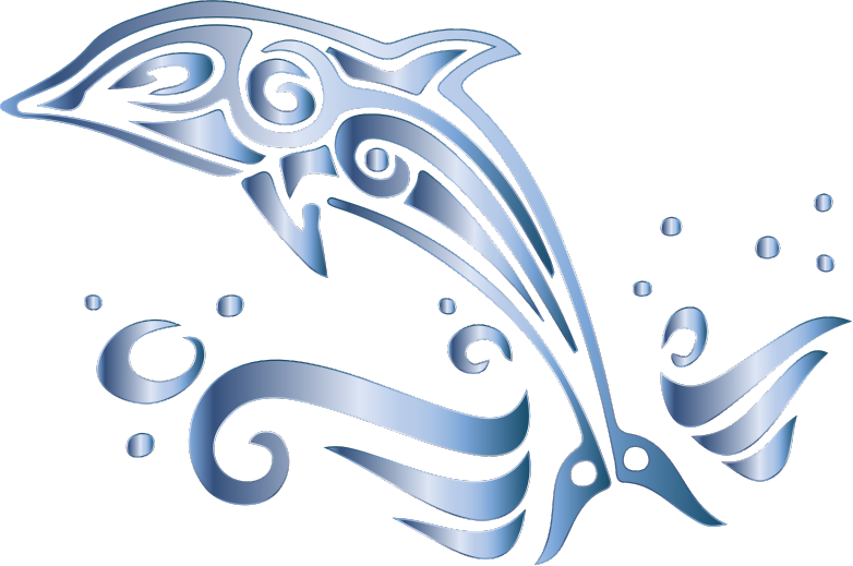Chromatic tribal no medium. Clipart dolphin transparent background