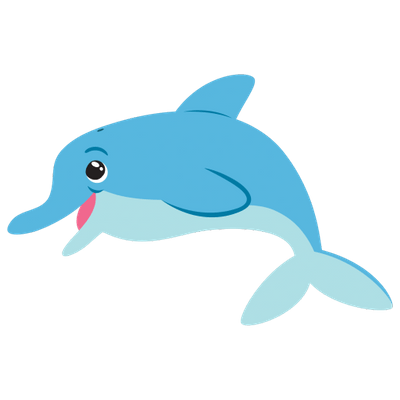 Cartoon png stickpng . Clipart dolphin transparent background