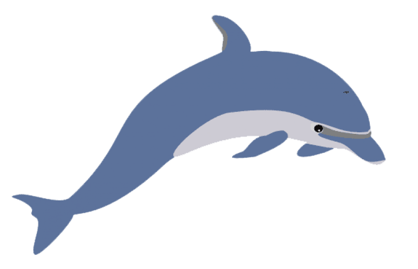 Cute png free images. Dolphin clipart two