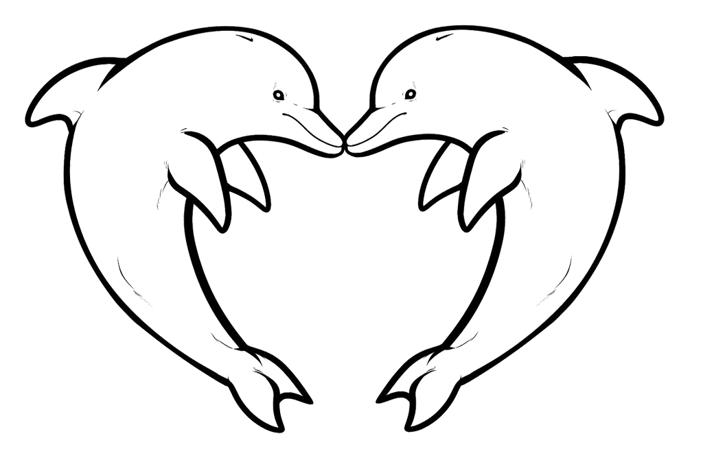 Dolphin clipart two. Coloring page jpg clip