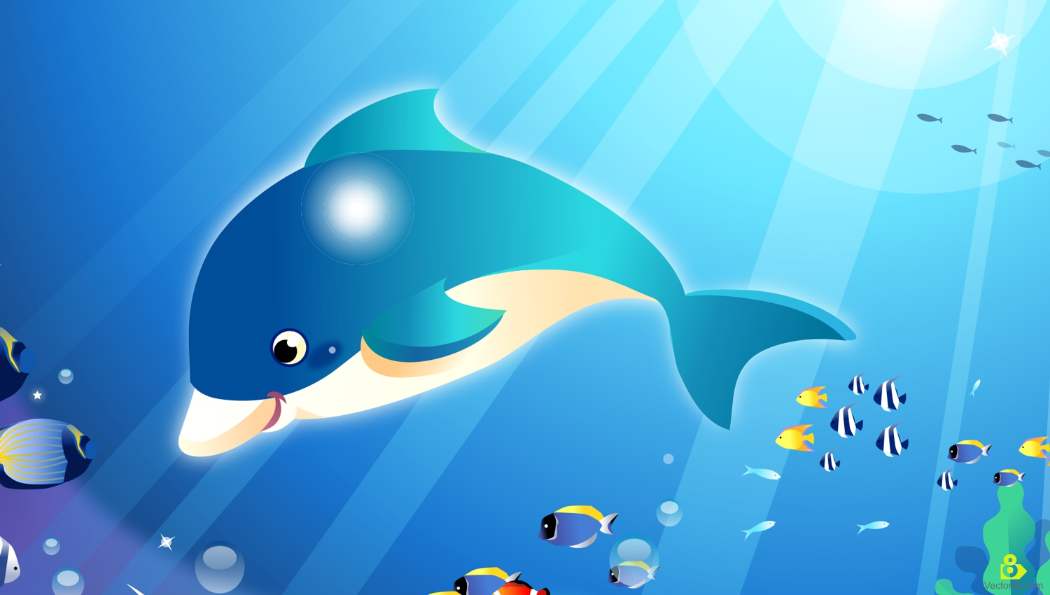 Dolphins clipart underwater. Dolphin swimming clip art