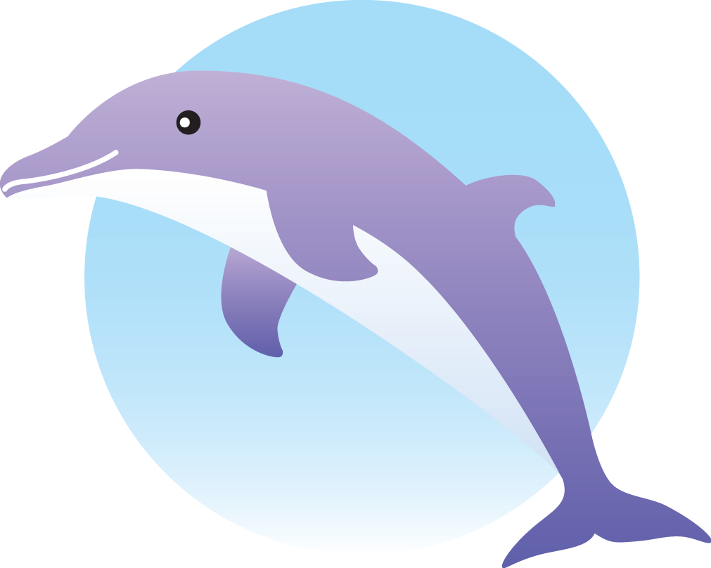 Purple cartoon animals animal. Dolphin clipart vector