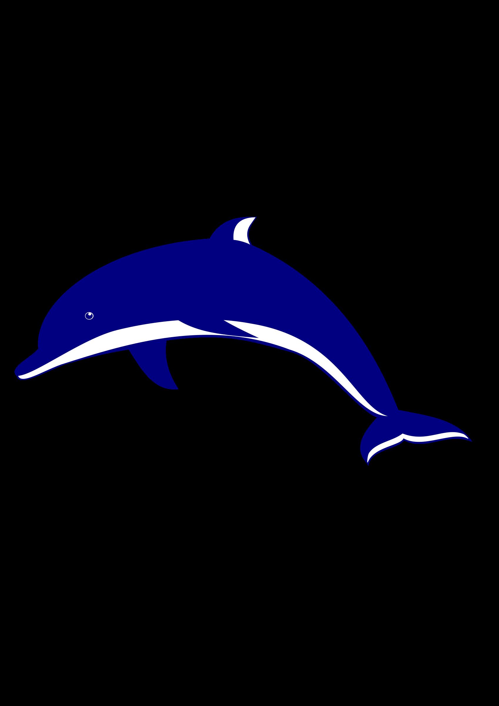 . Dolphin clipart purple