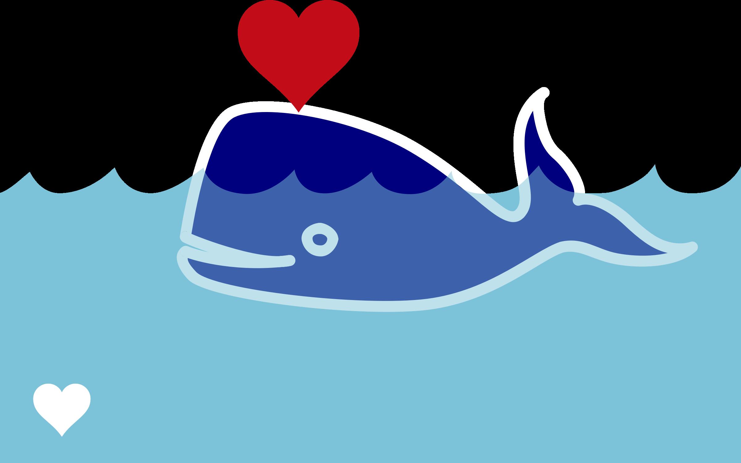 clipart whale swim
