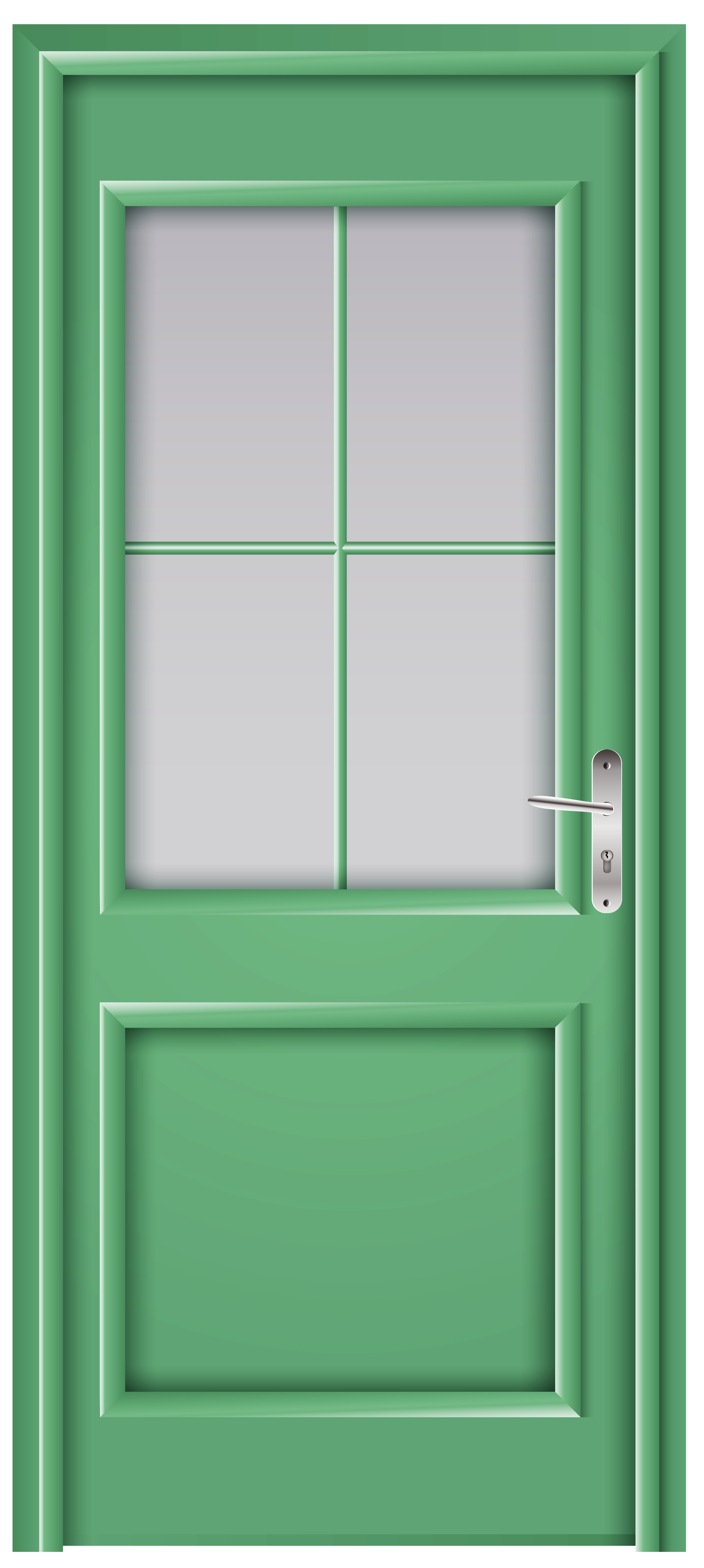 Green png clip art. Clipart door