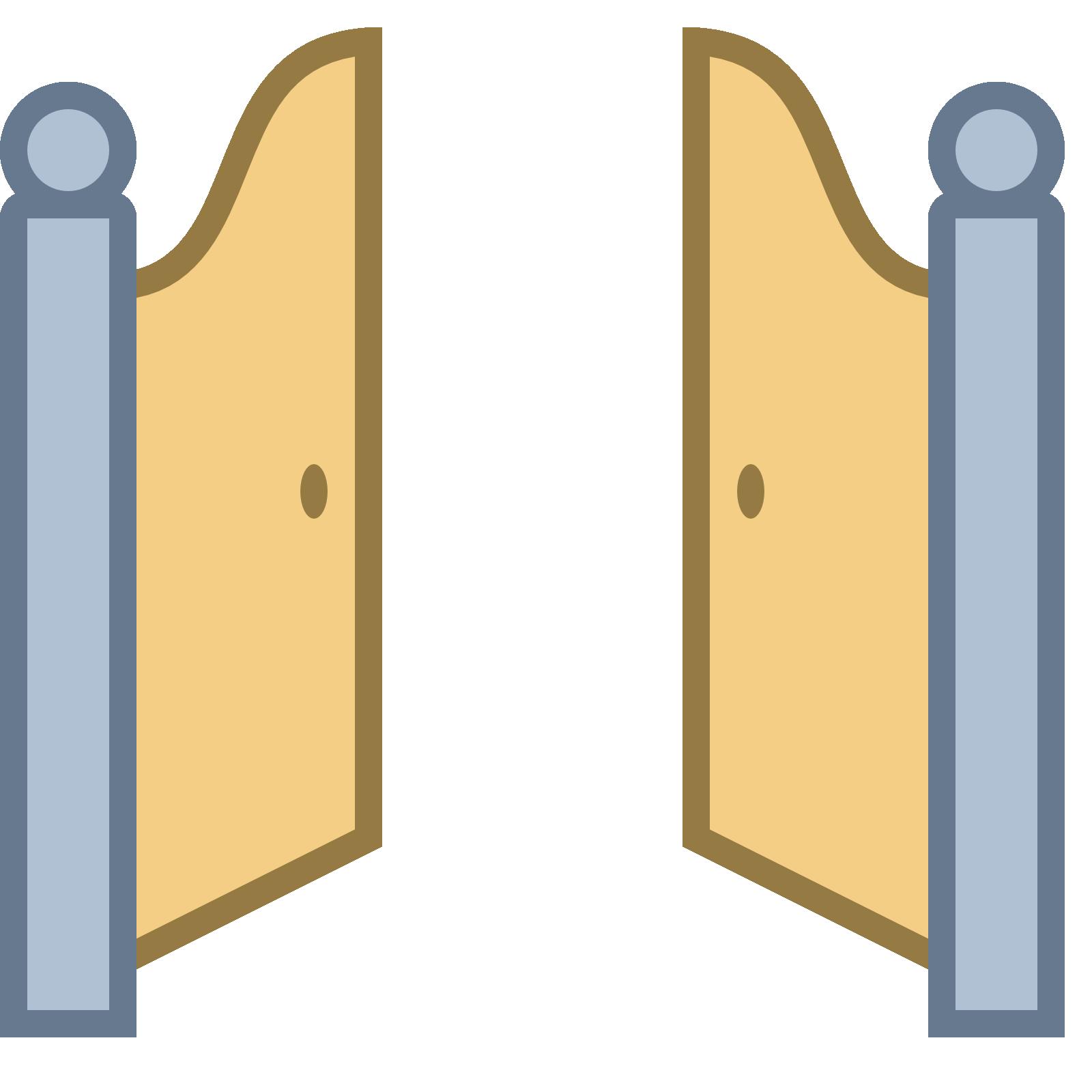 Open gate png transparent. Door clipart doorway