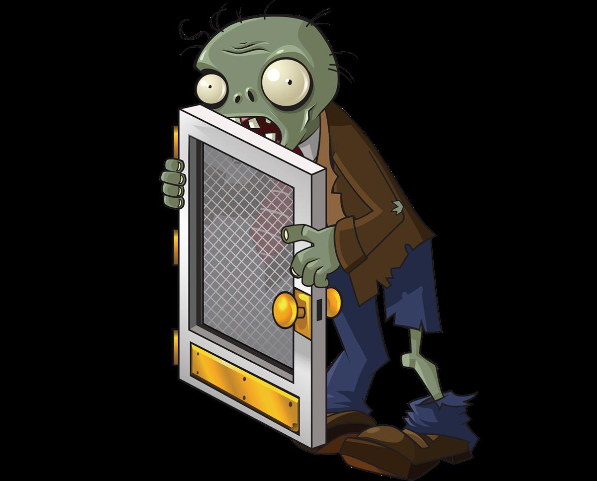 Screen zombie plants vs. Clipart door 2 door