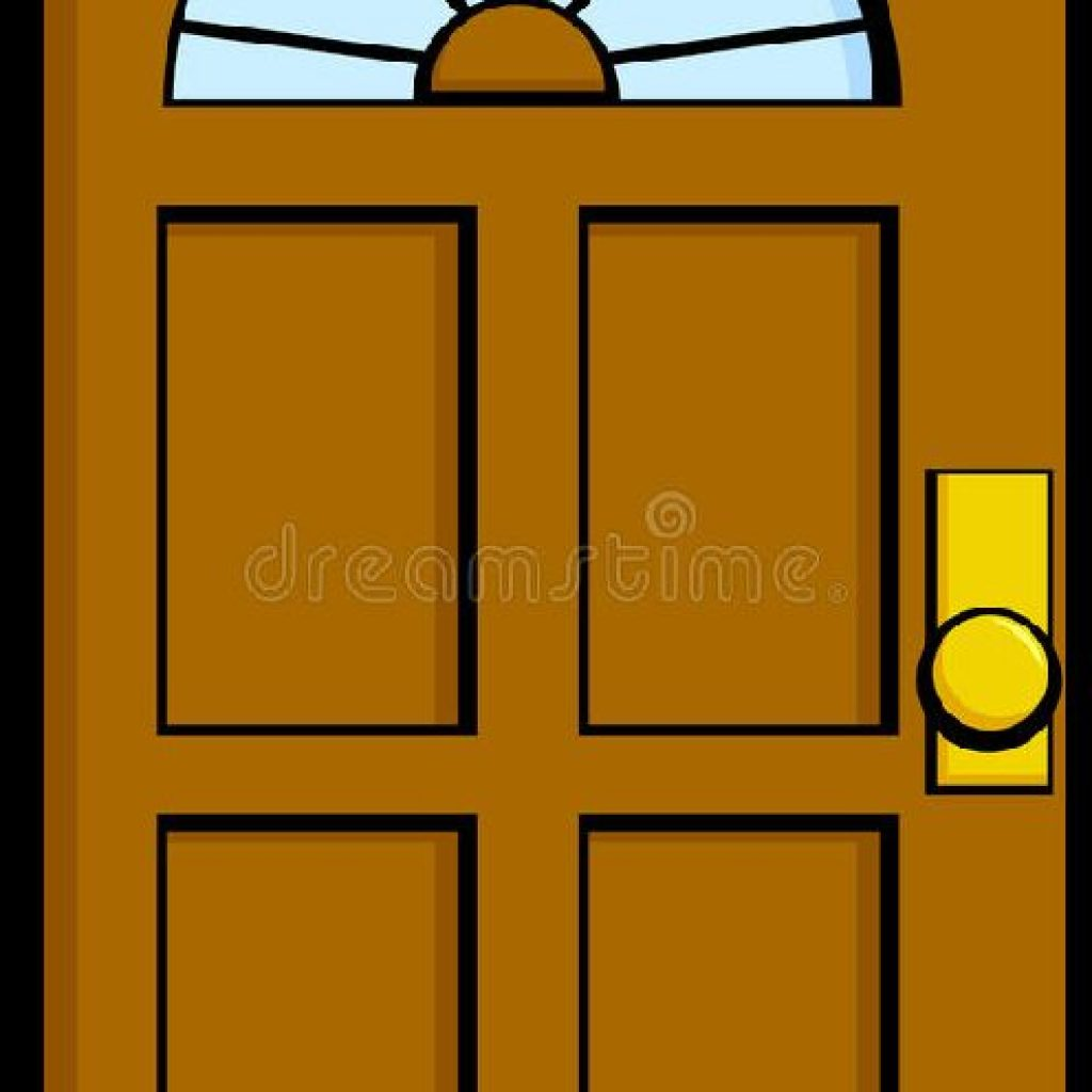 Door clipart. Open the top best