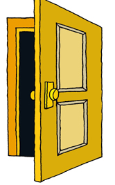 Open . Door clipart