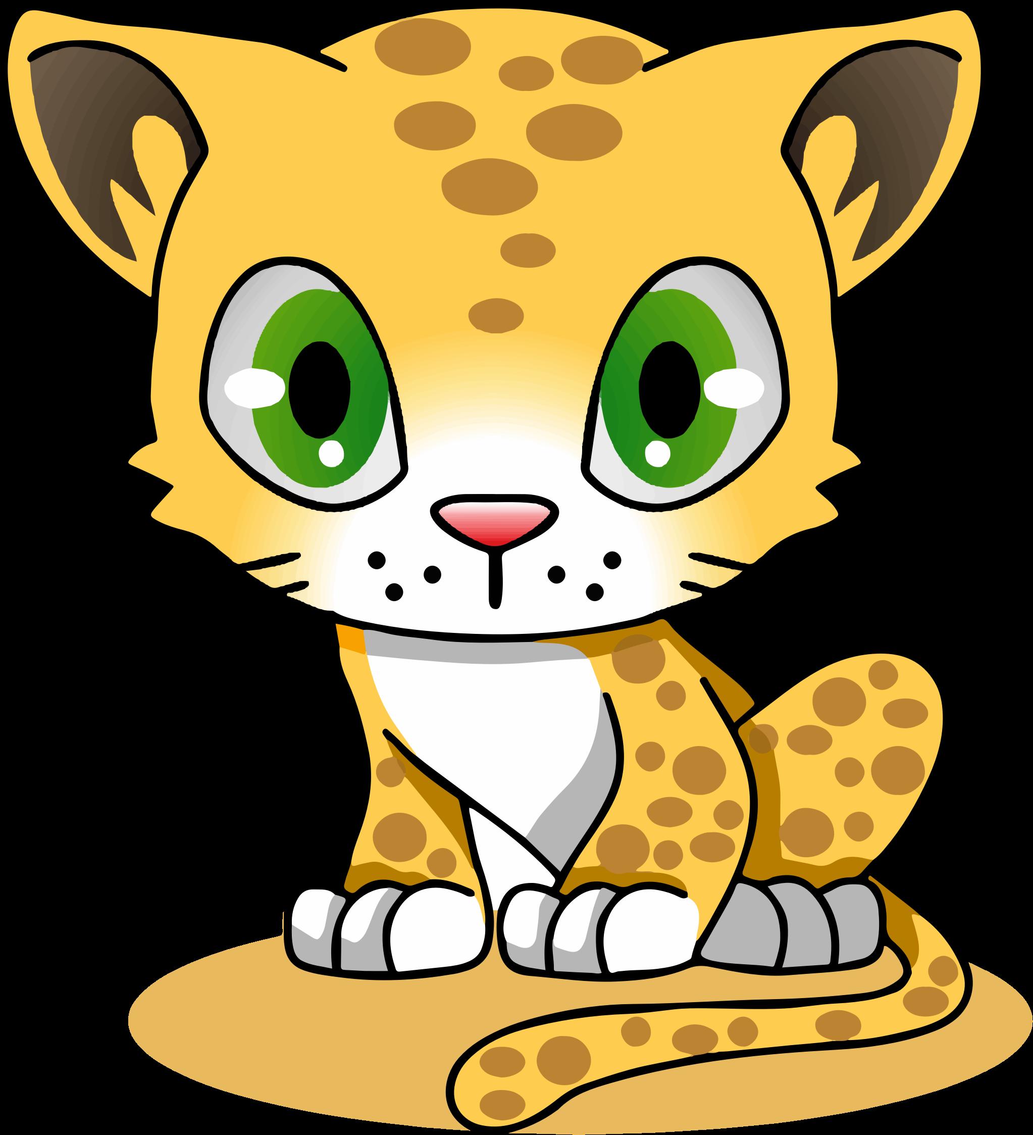 Clipart door animated. Leopard cartoon