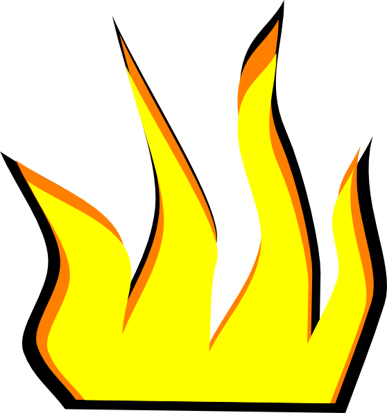 Frame clipart fire. Cartoon pencil and in