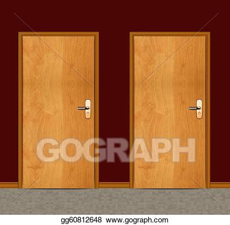 Door clipart apartment door. Clip art wooden stock