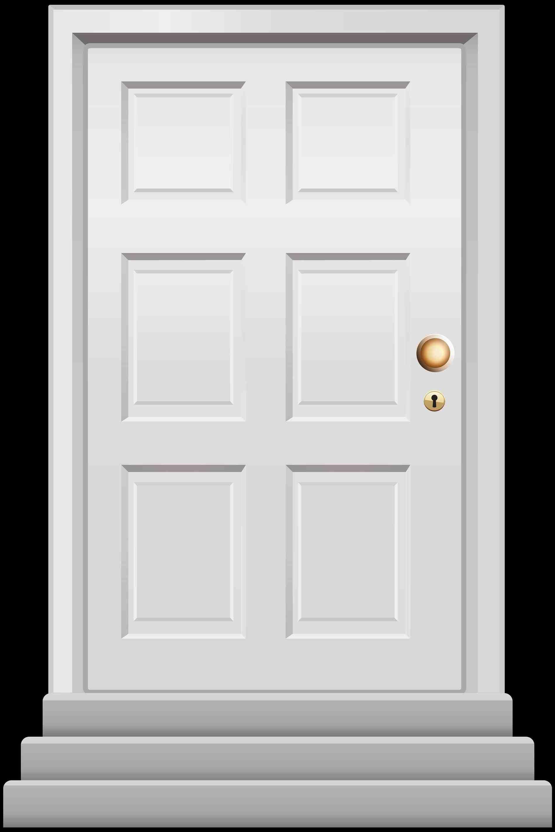 Door clipart home door. House old decaying open