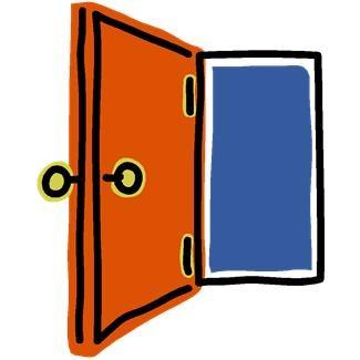 Door clipart back door. Front clip art library