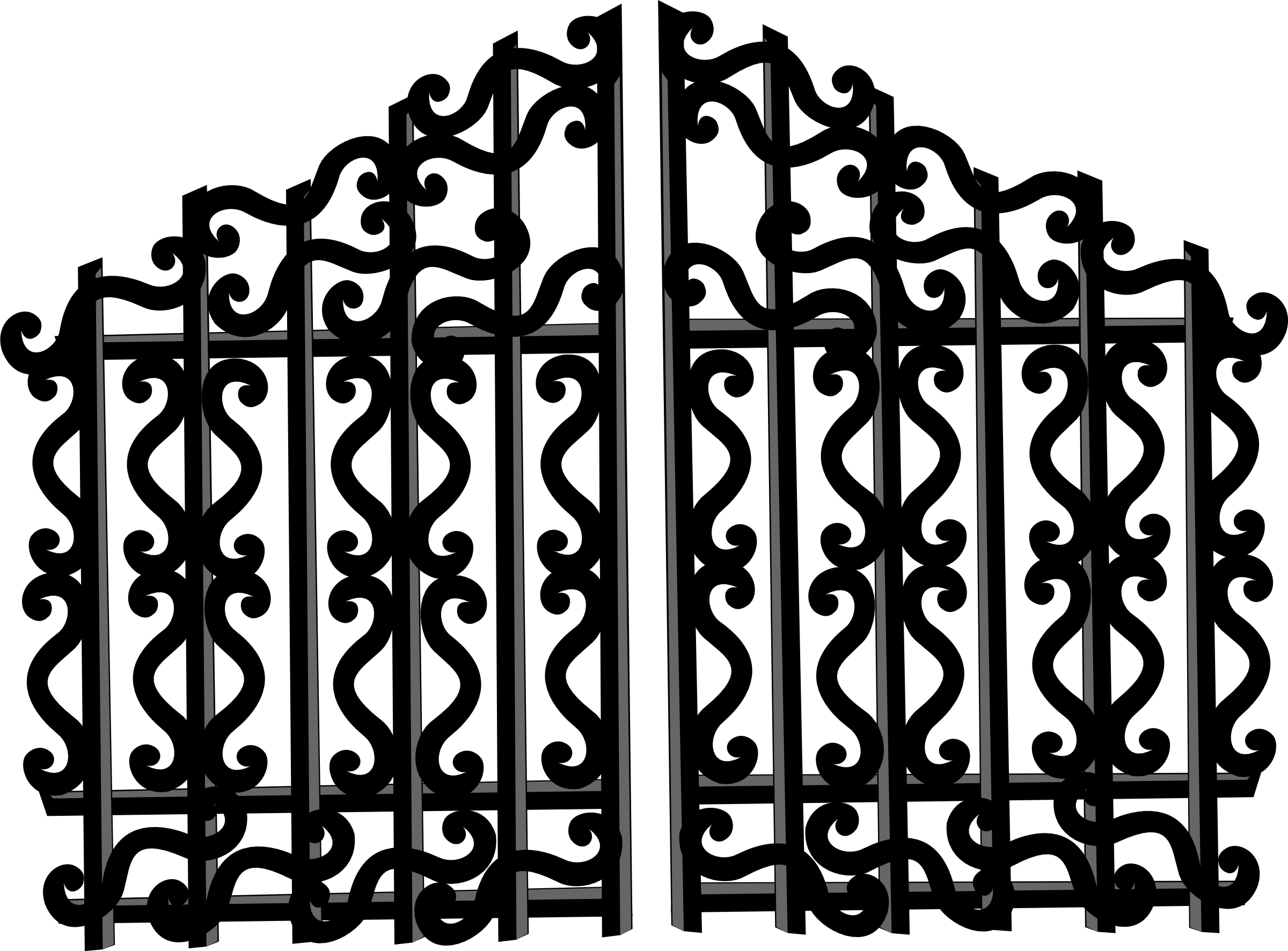 Clip art images panda. Gate clipart creepy