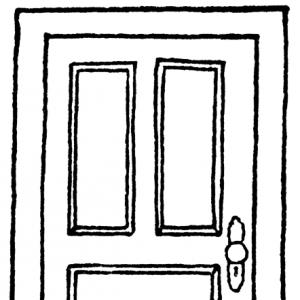 Free black cliparts download. Door clipart line drawing