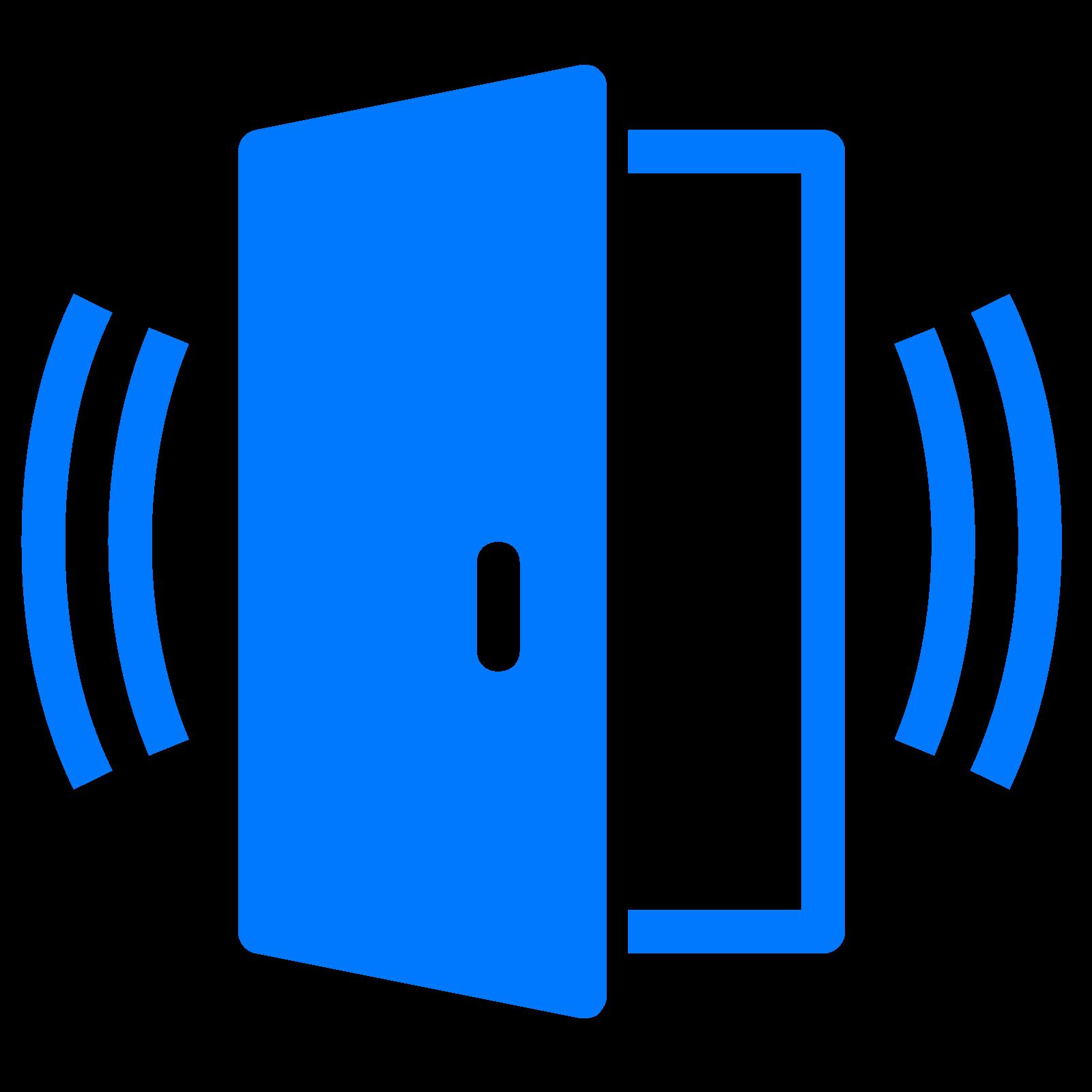 Door clipart blue door. Computer icons sensor security
