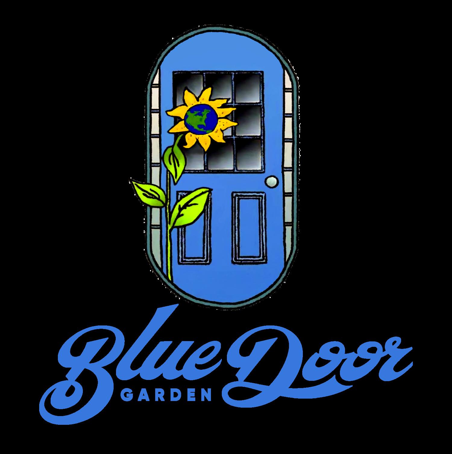 Garden . Door clipart blue door