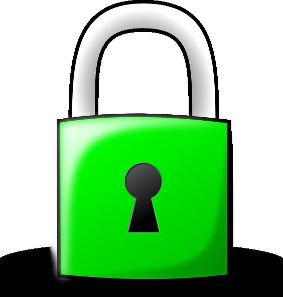lock clipart outline
