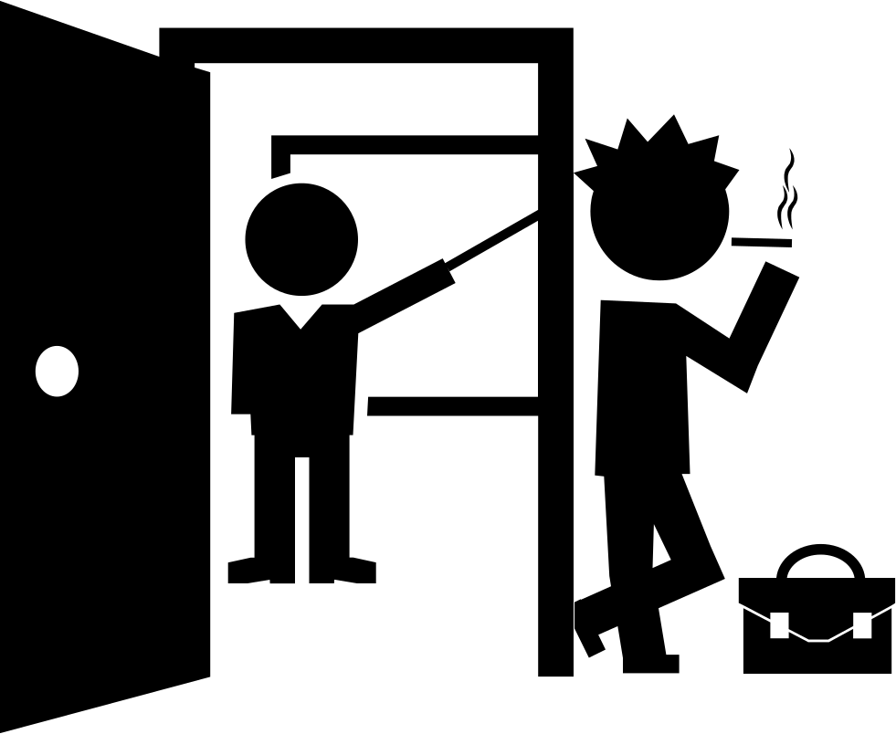 Student Smoking At Class Door Svg Png Icon Free Download