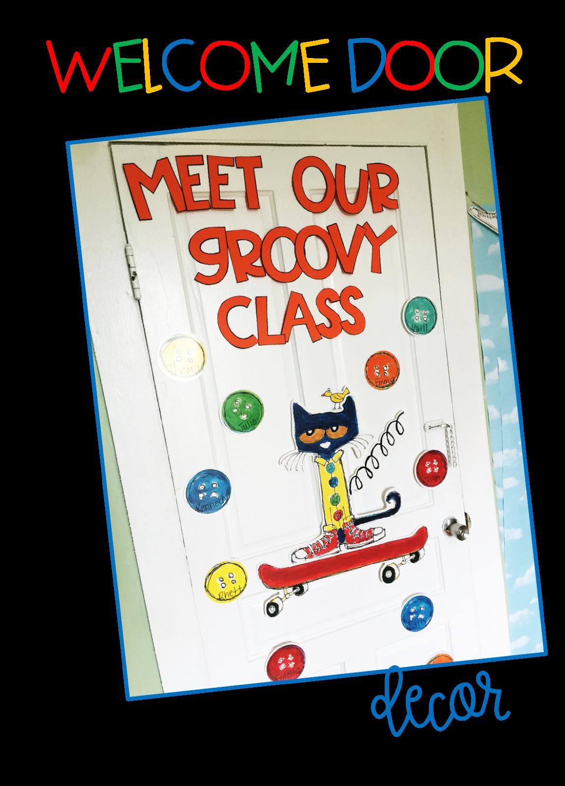 Meet the teacher with. Door clipart classroom door