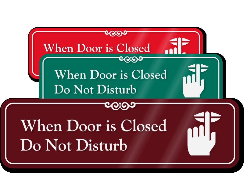 Clipart door closed door. Do not disturb signs