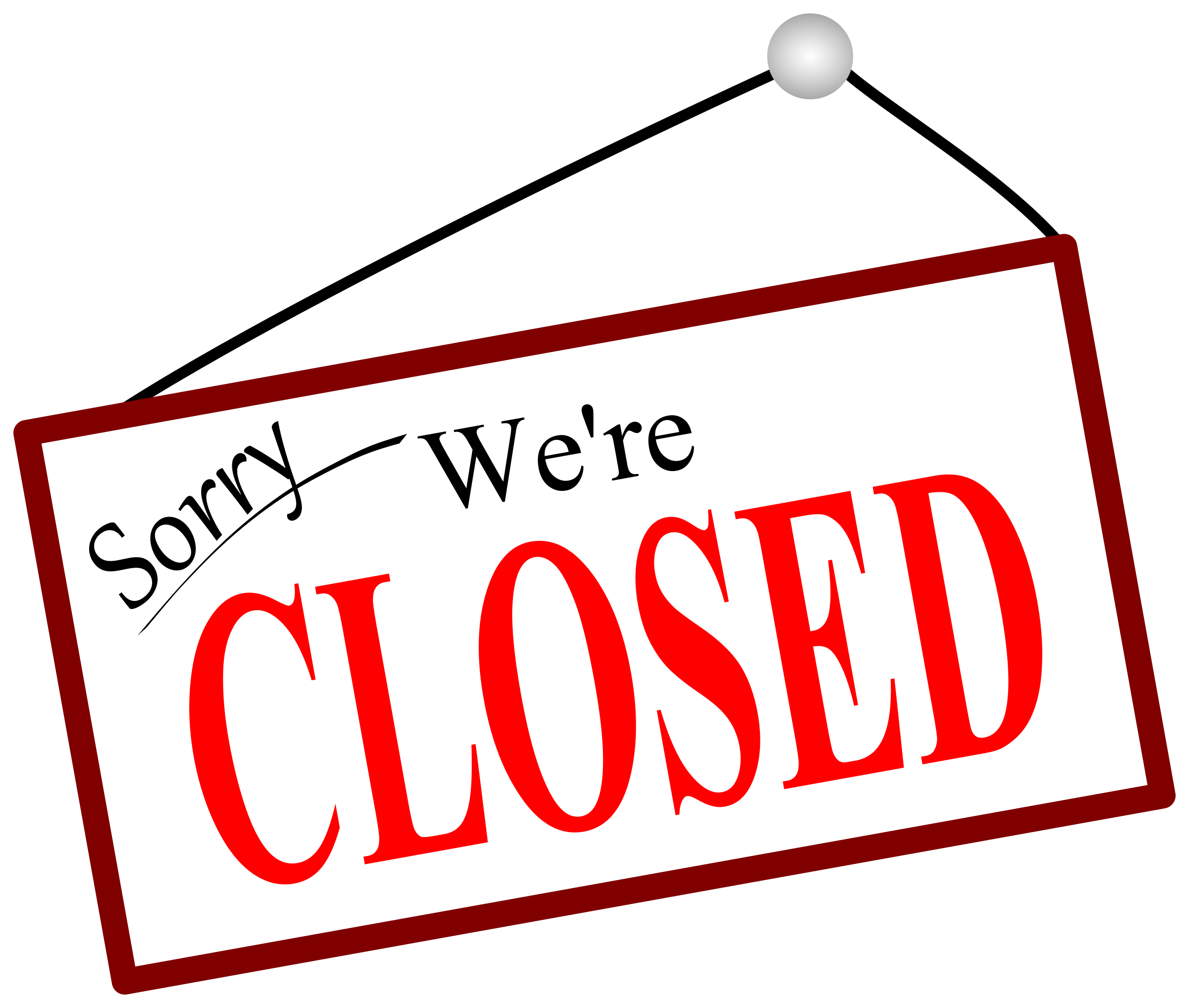 Clipart door closed door. Sorry we re sign