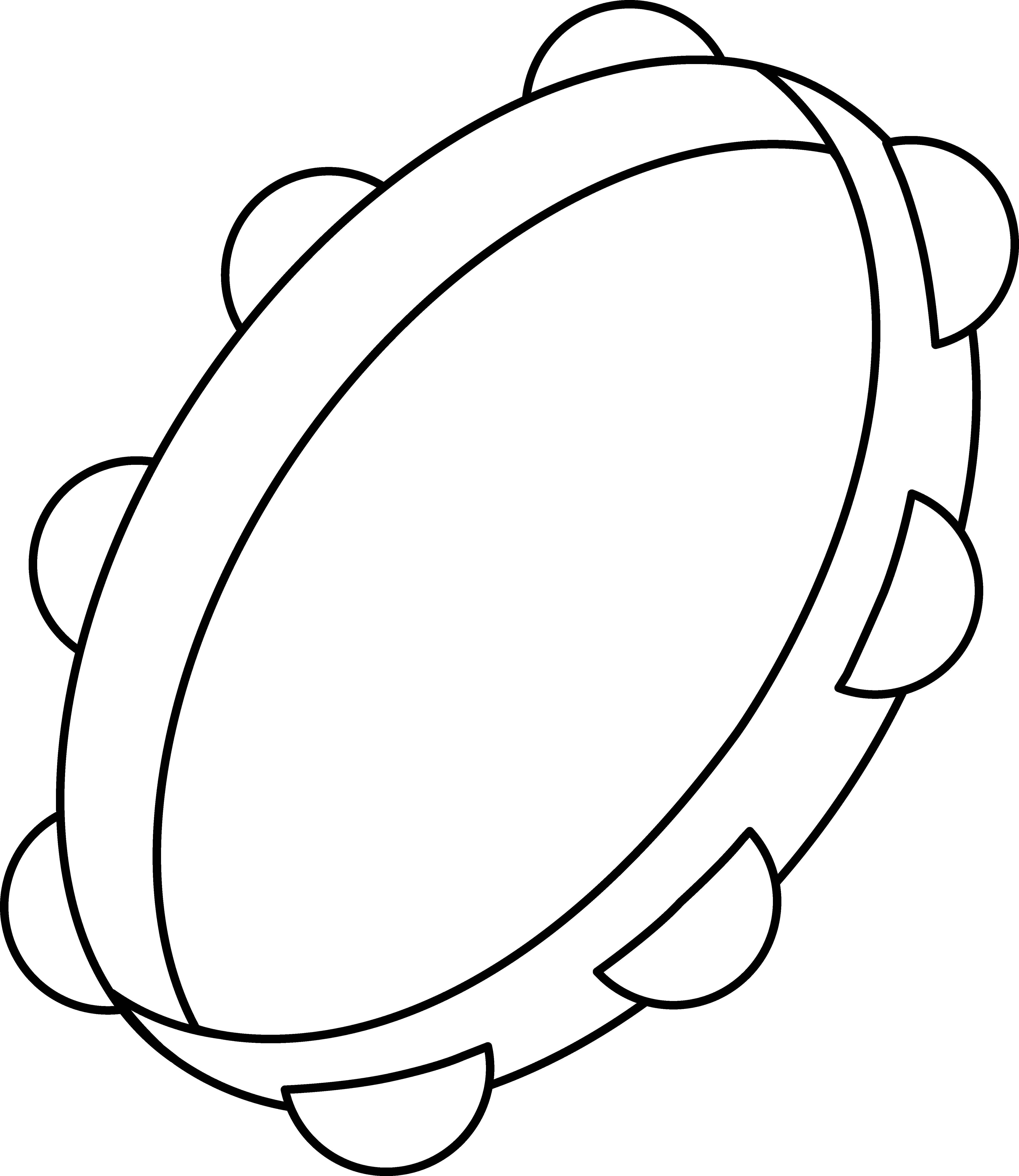Door clipart coloring. Tambourine page free clip