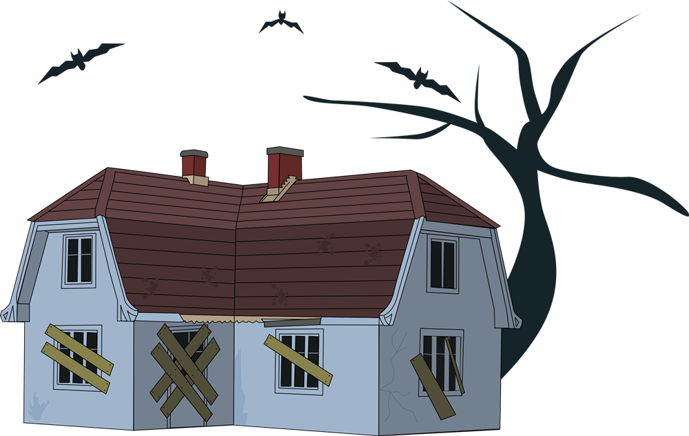 collection of house. Clipart door creepy