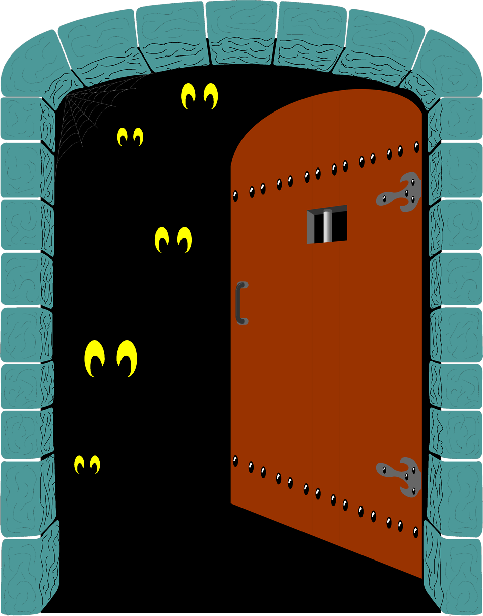 collection of scary. Door clipart illustration
