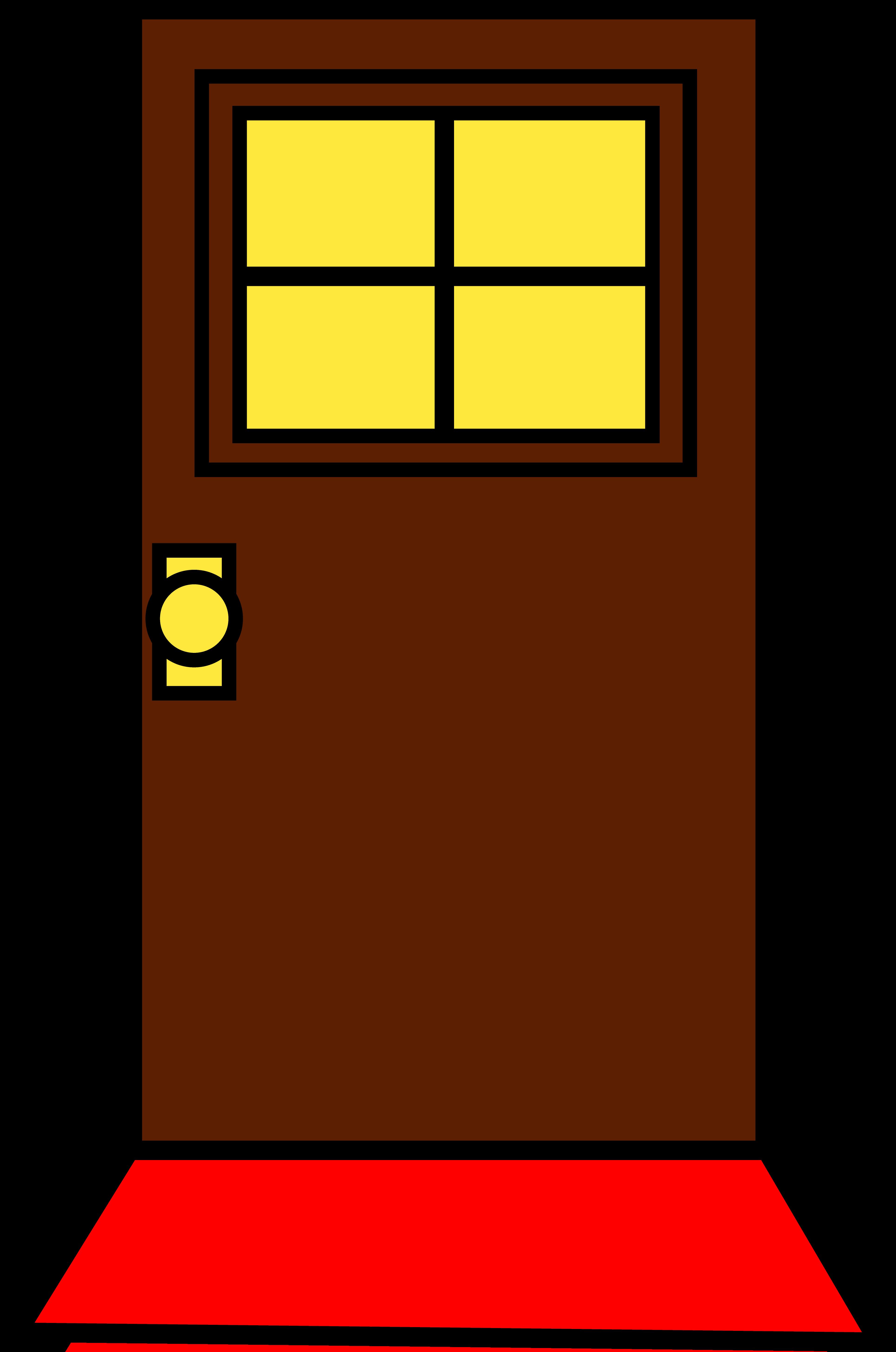 Simple brown free image. Clipart door door design
