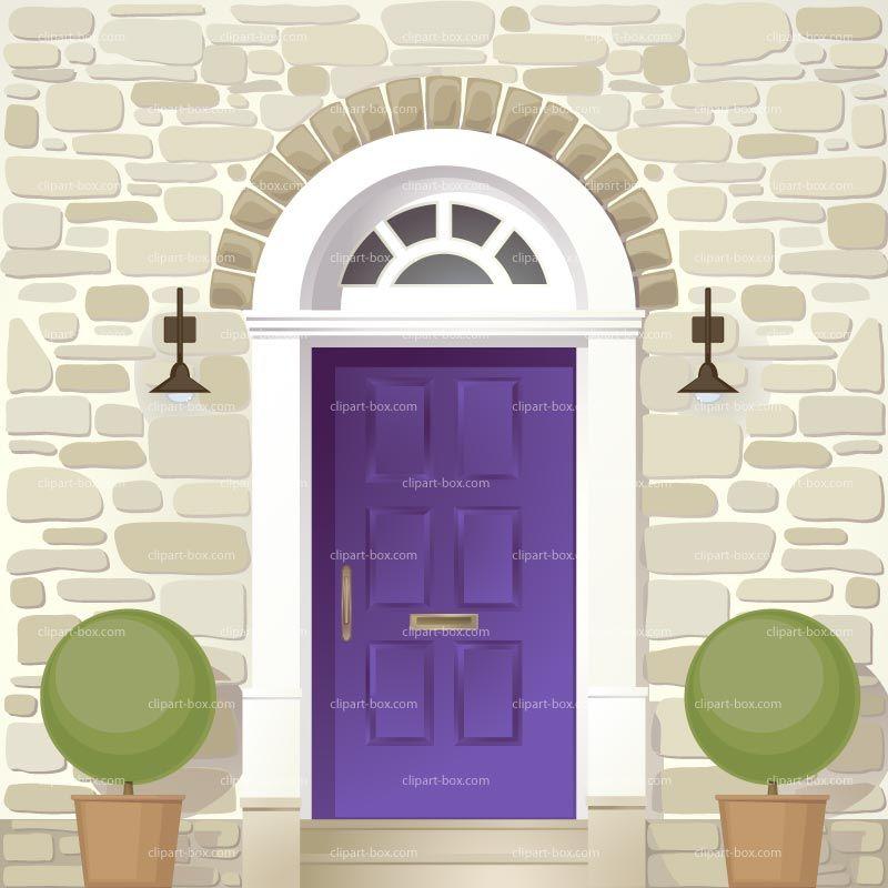 Front royalty free vector. Door clipart entrance door