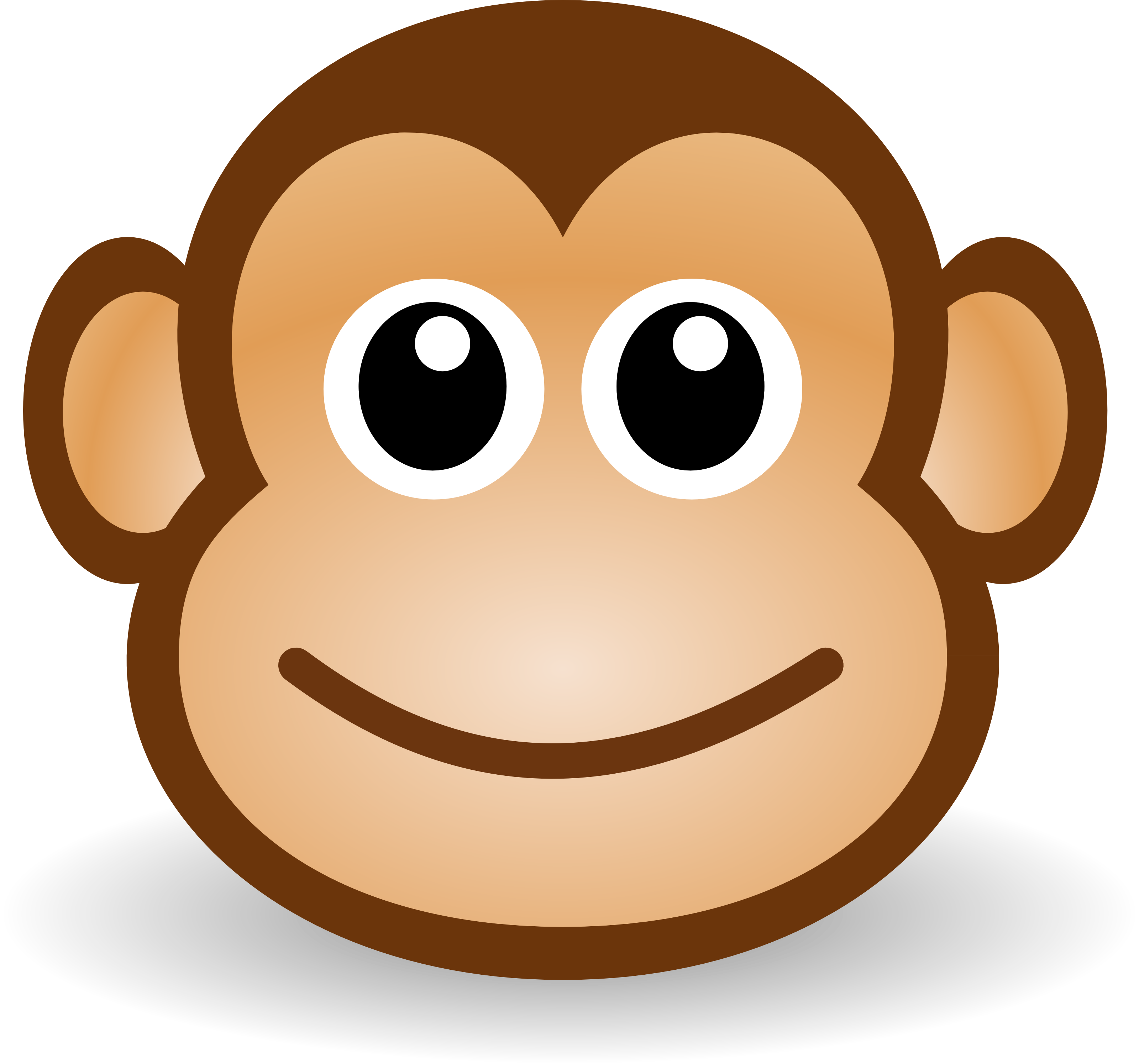 Number 1 clipart face.  collection of monkey