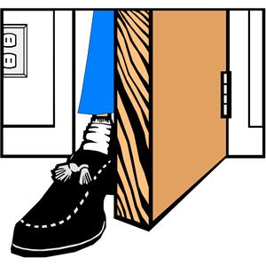 Clipart door foot in door. Cliparts of free download
