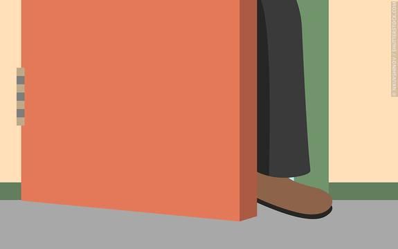 The as a persuasive. Clipart door foot in door