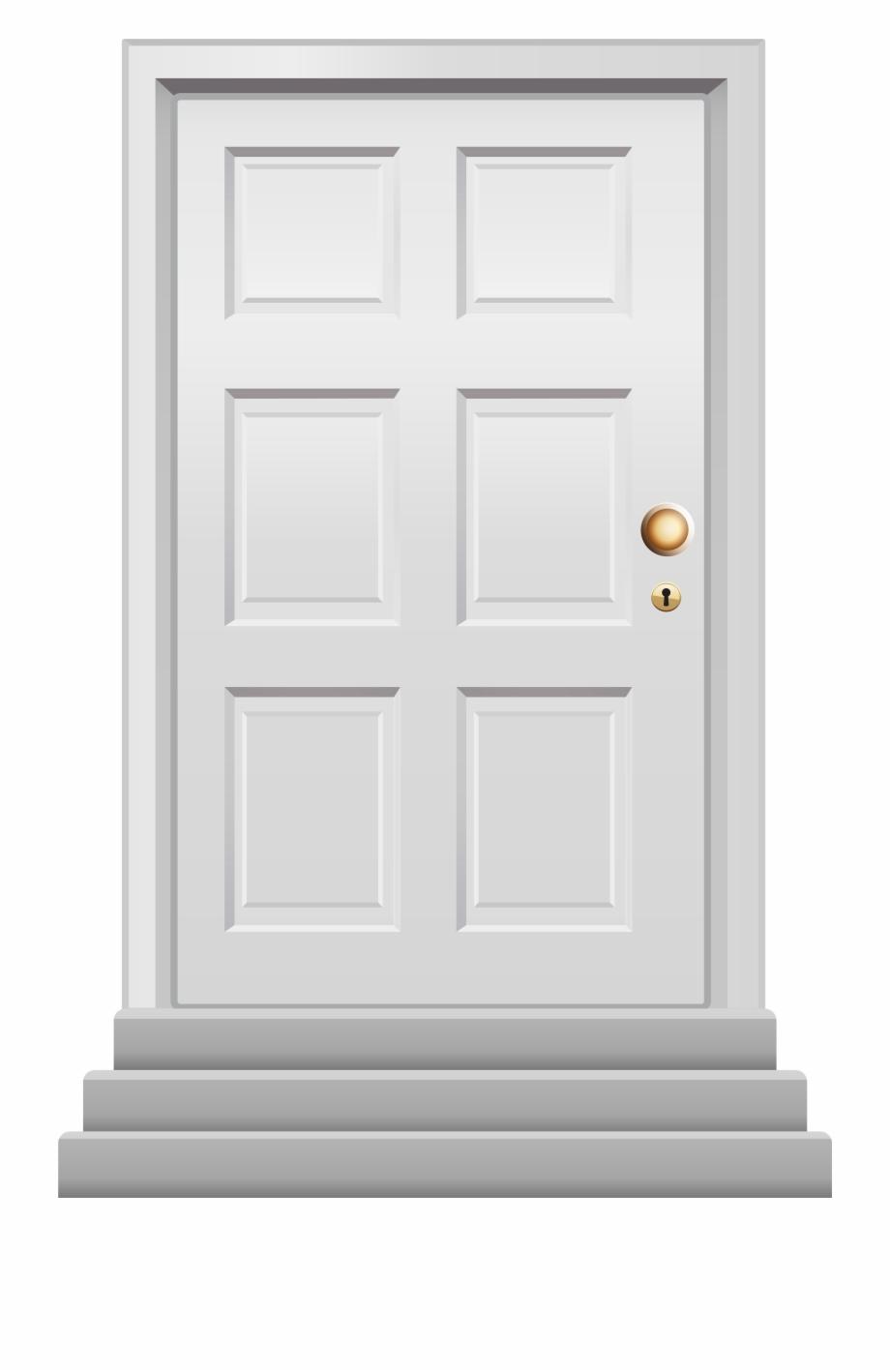 Front white png clip. Door clipart main door