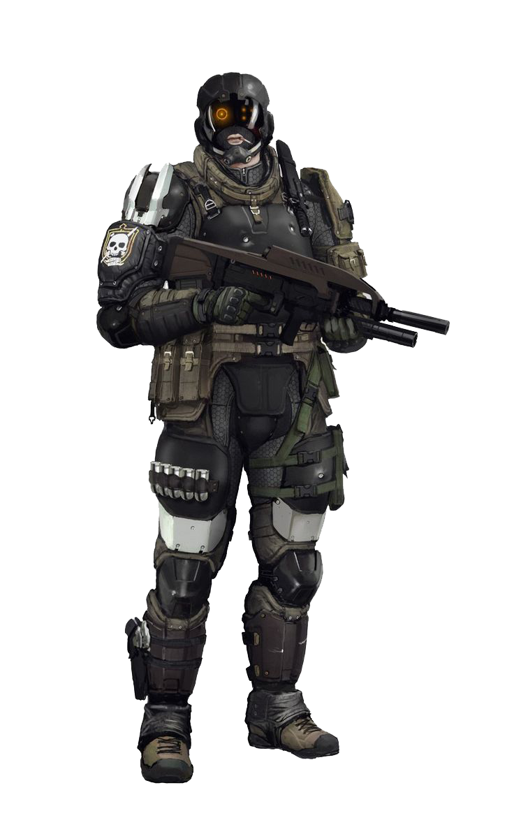 Soldiers clipart space. Sci fi warrior png