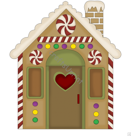 Gingerbread clipart door. House pencil and inlor