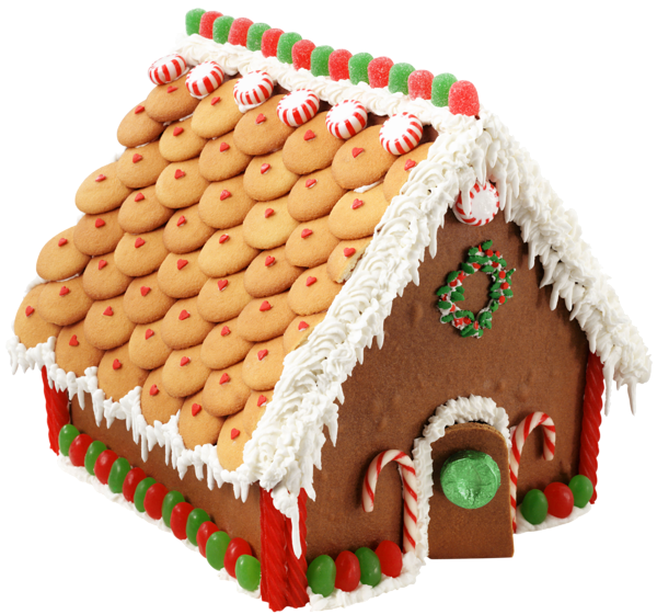 Large transparent png picture. Clipart door gingerbread house