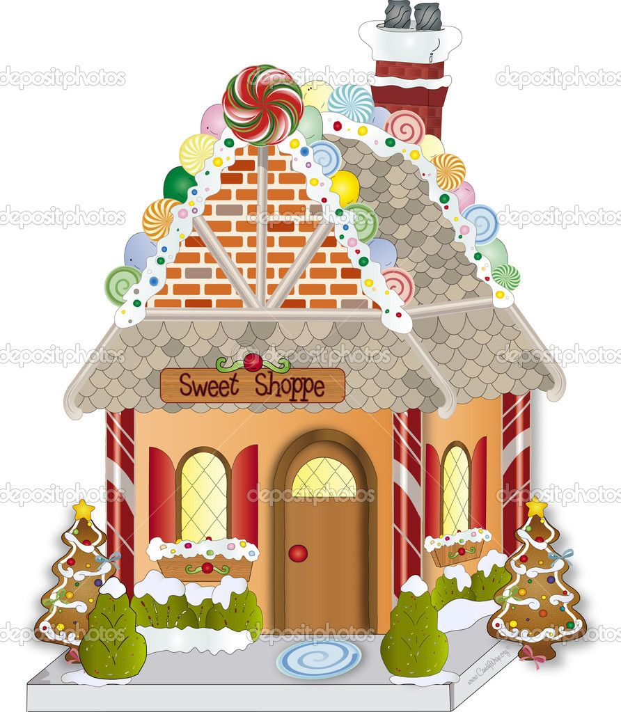 House candy . Gingerbread clipart gingerbread village